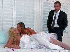 Wedding day Dreier mit Jada Stevens Phoenix Marie