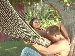 Backyard sex with hot asian Kaylani Lei