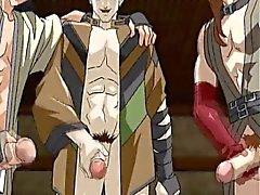 Legato in su anime Giovani Senza ottiene la sua buco Virgin scopare