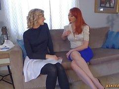 Kendra James Verstand steuert lesbische Babe und Zunge fickt sie
