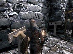 villana Skyrim Elenwen follada azotado pt1