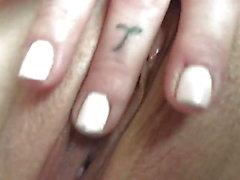 Girlfriend Rubbing Her Wet Pussy