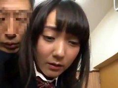 Trio japonés con mamada y follar