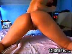 Tatuerade Latina Perfect Ass leker på webbkamera