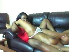BBW Lesbisk Ebony Sex