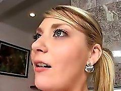 Beautiful Busty Blonde Slut Creampie