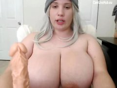 GIGANTIC BOOBS BBW TEEN CAM-TYTTÖ imee dildo pt one