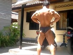 Indonesia Bali Bodybuilder Sexy Muscle Pose