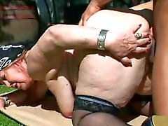 Moslim BBW Granny Fucked Outside