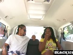 Bootylicious ebony slut Envy Luv gets hammered in a car