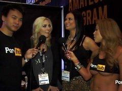 PornhubTV Jasmin Jae und Sophia Knight in 2015 AVN Awards