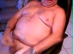 vovô cum na webcam