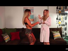 A GIRL KNOWS - Lesbian sex with Hungarian and Russian babe