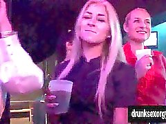 Beauty pornstars fuck in club