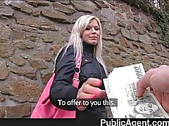 PublicAgent - Blonde fucked in public toilets
