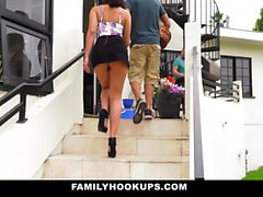 FamilyHookUps - Teen Fucks Dads Bestfriend
