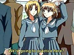 Hentai schoolmeisje met een pik krijgt echt opgewonden