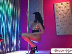 Strippari-kokemus - Sexy Peta Jensen imee iso munaa, iso booty