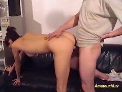 contorsionista flexible real follada
