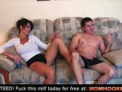 Accidental blowjob with mom !