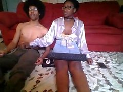 Ebony Teen Amateur Blowjob Sperma im Mund