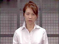 Blazing japanischen Babe bekommt einen Gesichtsbesamung nach intensiven Blowjob