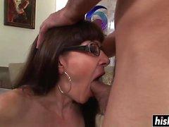 Amazing milf loves a stiff dick