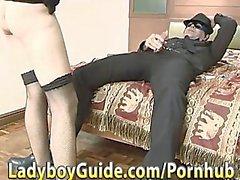 European Embezzlement Starves Thai Ladyboy Cock