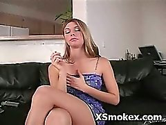 Hottie Voluptuous Sweetie Smoking