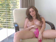 Busty Emily Addison hot solo