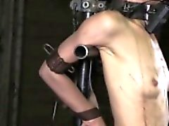Petite bondage bdsm sub caned roughly