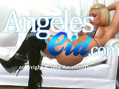 Angeles Cid in sexy black boots