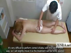 Subtitled Japanese newhalf shemale nude butt massage