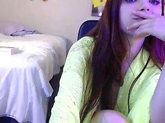 amatoriale scintilla mandarino se stessa diteggiatura su webcam