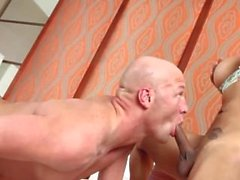 Pretty shemale gets mouth filled with sperm