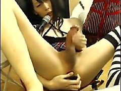 Hung Asian CD Cums on Webcam