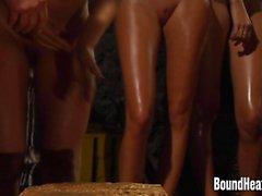 Markalaşma Lezbiyen Kız Butts One By One