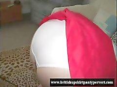 Mature britânico upskirt amador dona de casa mostra a calcinha