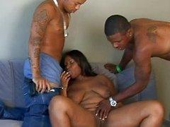 Skyy Black ebony slut loves cock