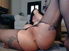 Ukrainian girl play, squirt & anal fuck!