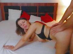 Wild Older Pair Having Wild Sex on Sofa
