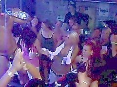Sexe de groupe petit pâté wild au night club