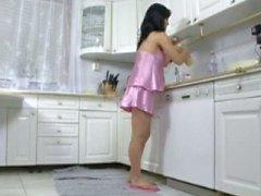 porra grávida na cozinha