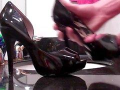 Лакированной кожи Открытый пальца ноги Насосы Получить специальное Pumped с 1