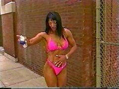 Fitness Tyttö Näytetään pois Great Body ulkona