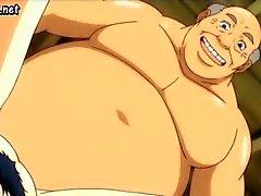Milf anime krijgt haar lul laid