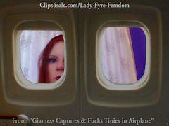 Giantess bayan Fyre tarafından Başkanlık Airplane kerken