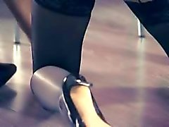 Hot women fucking with strap in garters