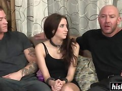 Two guys fuck the hot Belle Knox