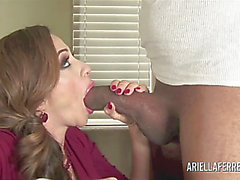 Large Boob Ariella Ferrera Rocks The Darksome Ramrod